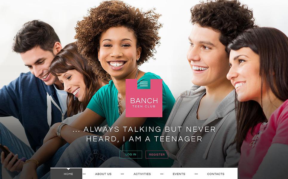 Адаптивний Шаблон сайту на тему підліткові клуби New Screenshots BIG