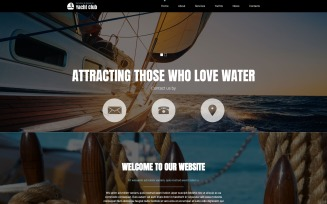 Yachting Club Joomla Template