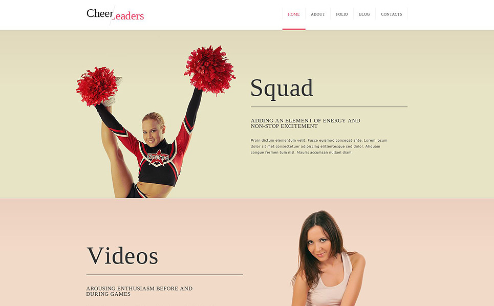Template Joomla Flexível para Sites de Animadoras de torcida №51836 New Screenshots BIG