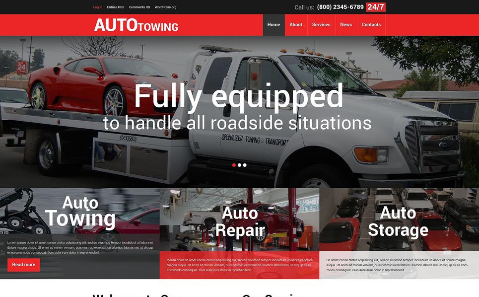 Responzivní WordPress motiv na téma Seřizování automobilů New Screenshots BIG