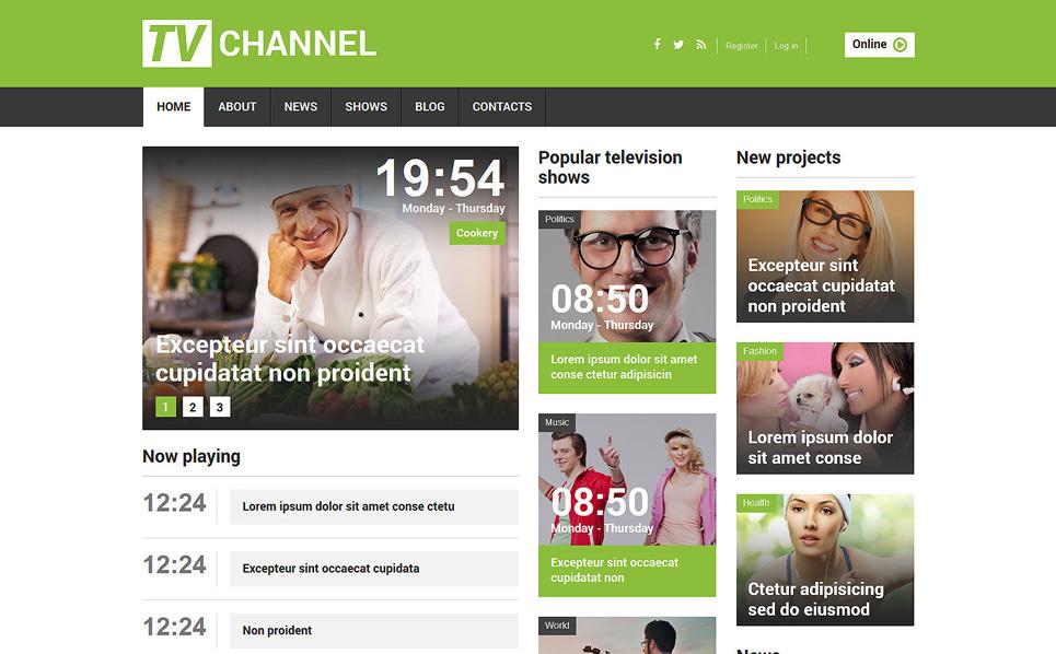 Адаптивний Joomla шаблон на тему tv канали New Screenshots BIG