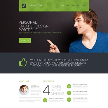 personal pages website template
