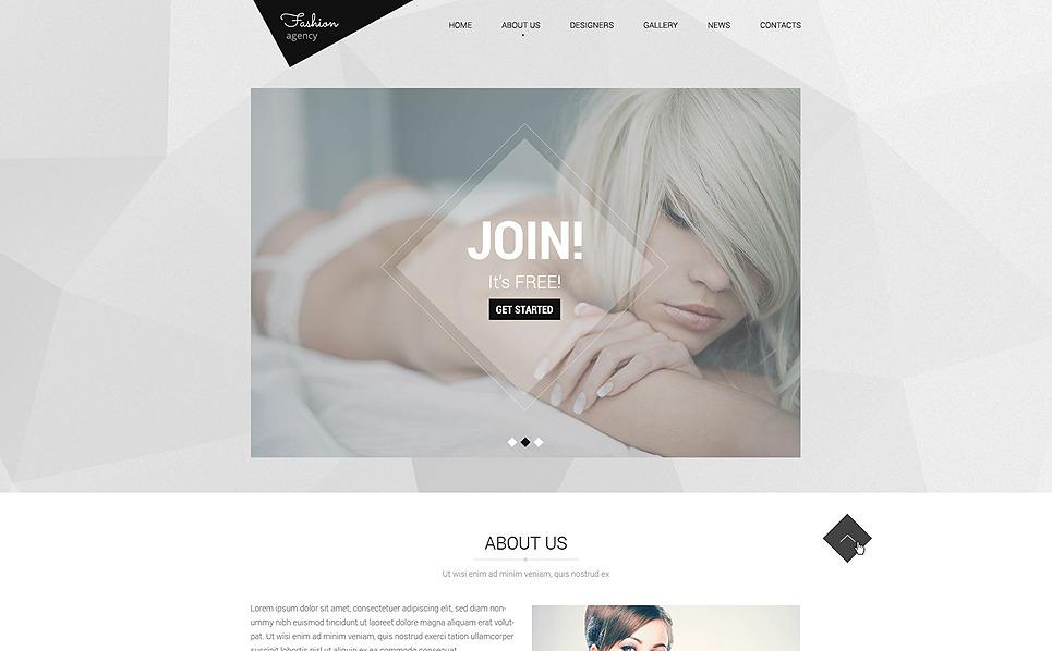Responsywny szablon strony www #51854 na temat: agencja modelek New Screenshots BIG