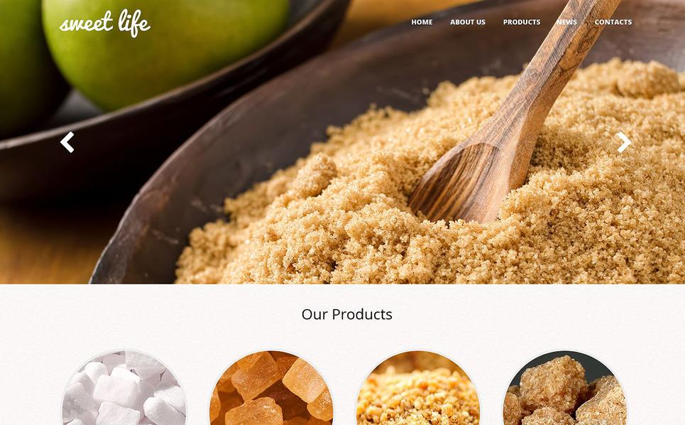 Responsive Website Vorlage für Essen und Trinken  New Screenshots BIG