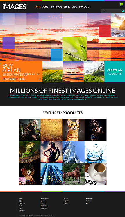 ADOBE Photoshop Template 51860 Home Page Screenshot