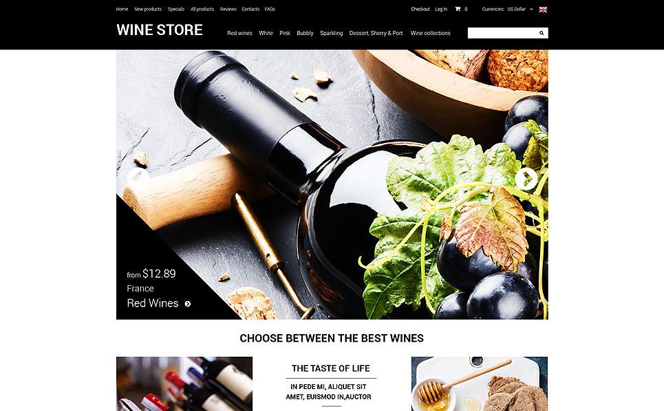 Şarapçılık  Zencart Şablon New Screenshots BIG