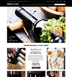 Food & Drink ZenCart  Template 51865