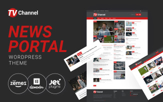 TVChannel - News Portal Modern WordPress Elementor Theme