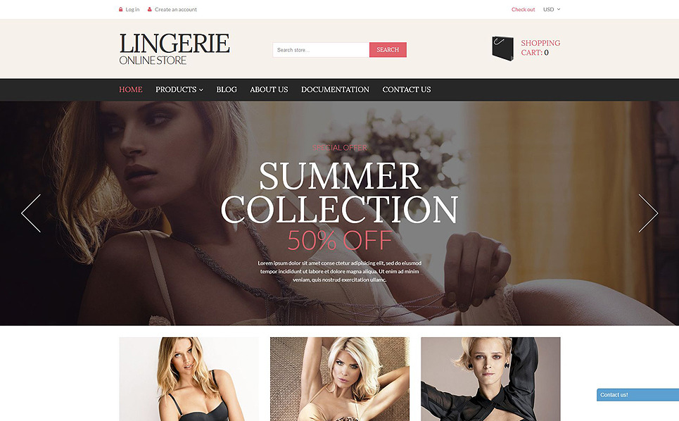 Responsive Shopify Thema over Lingerie  New Screenshots BIG