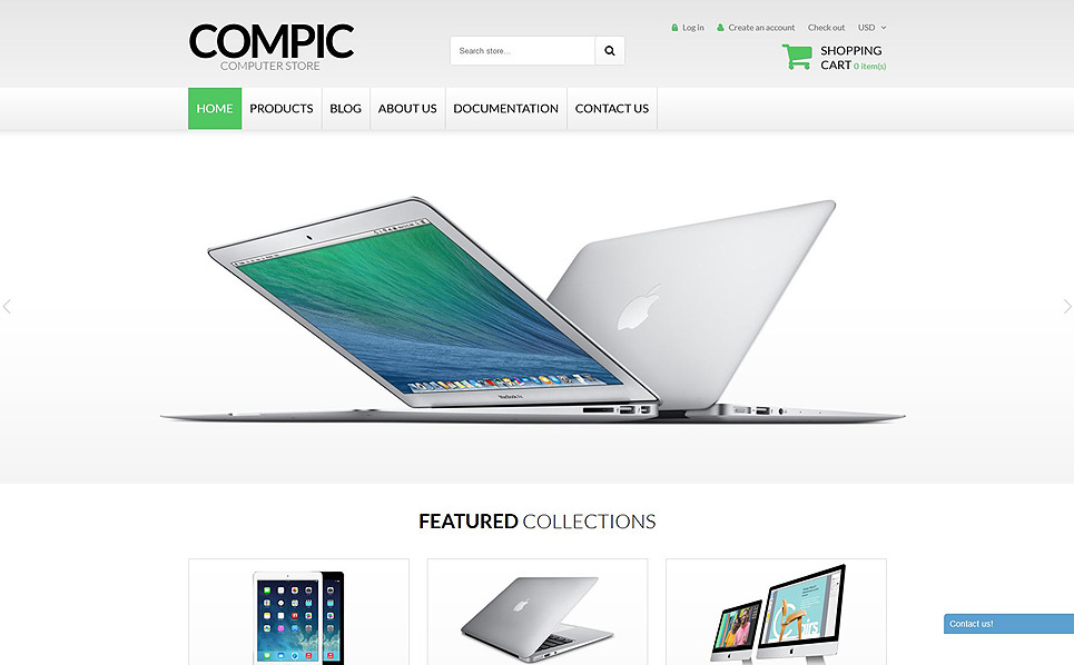 "Shopify Theme namens ""Computer-Hardware"" New Screenshots BIG"