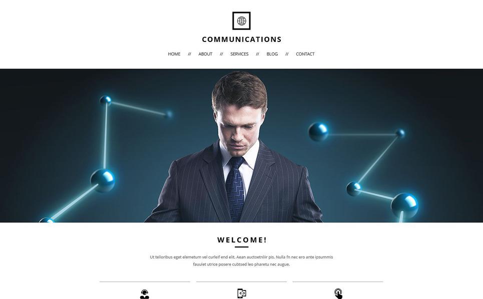 Responsive Website template over Communicaties  New Screenshots BIG