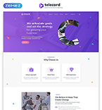 Communications Website  Template 51874