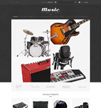 Music ZenCart  Template 51880