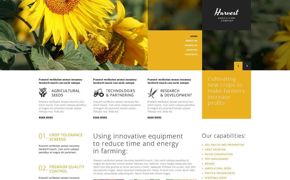 Responzivní WordPress motiv na téma Zemědělství New Screenshots BIG