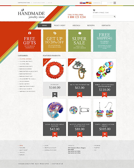 osCommerce Template 51884 Main Page Screenshot