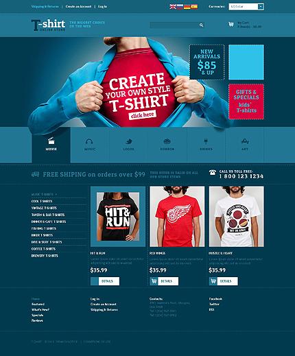 osCommerce Template 51885 Main Page Screenshot