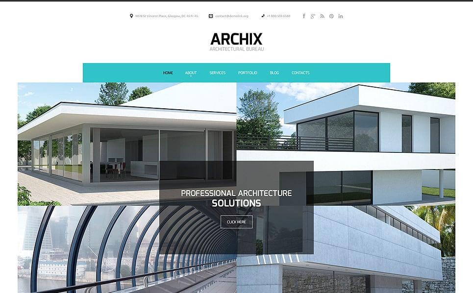 Plantilla web 51894 para sitio de arquitectura for Arquitectura sitio web
