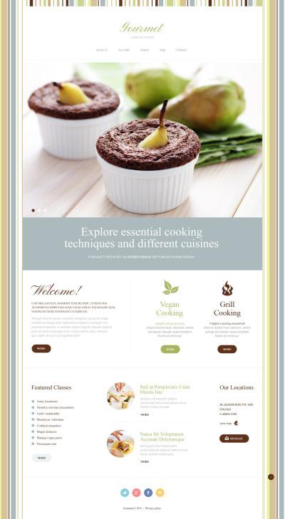 Адаптивный Joomla шаблон №51891 на тему кулинария