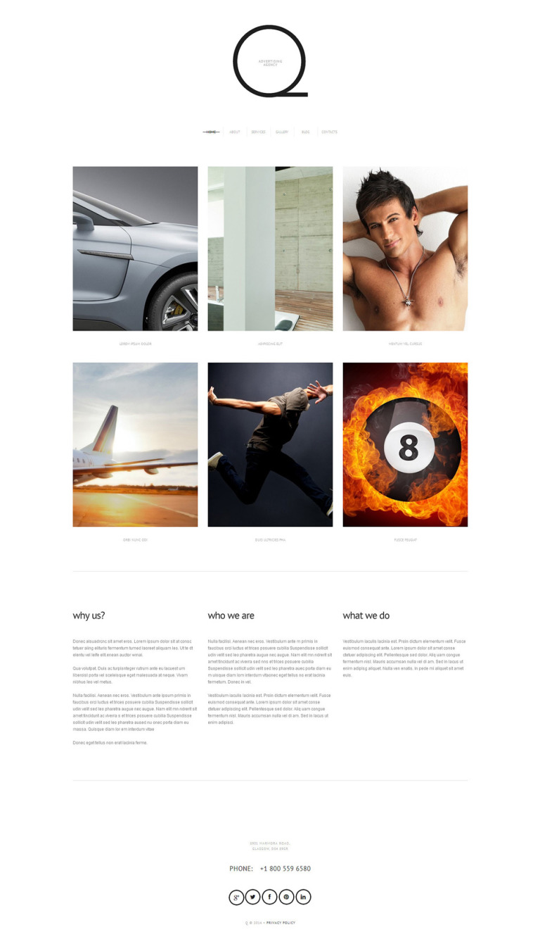 Advertizing WordPress Theme New Screenshots BIG