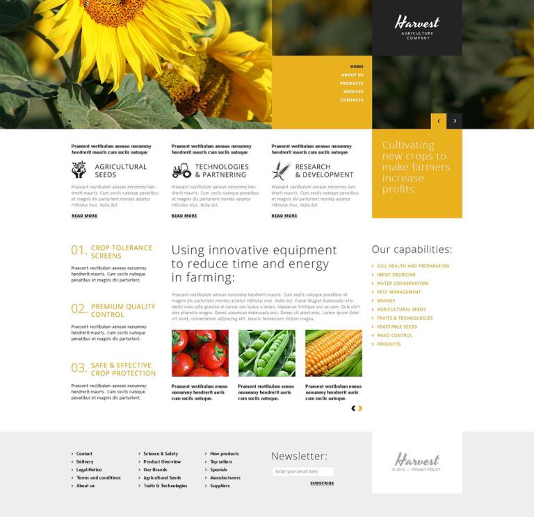 Agriculture Company WordPress Theme New Screenshots BIG