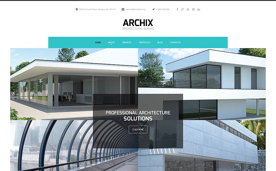 Architecture responsive website template 51894 for Architectural websites