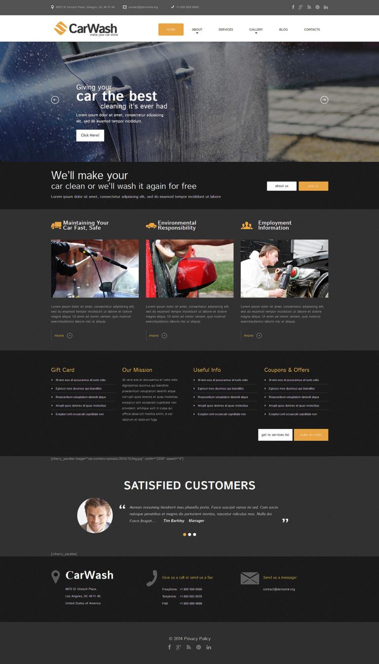 Auto Towing Responsive WordPress Theme New Screenshots BIG