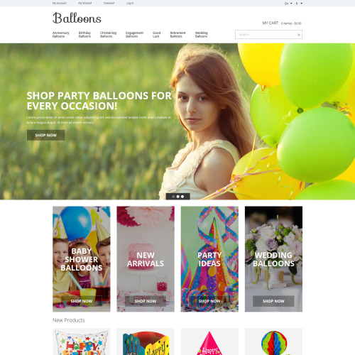 Balloons  - Responsive Magento Template