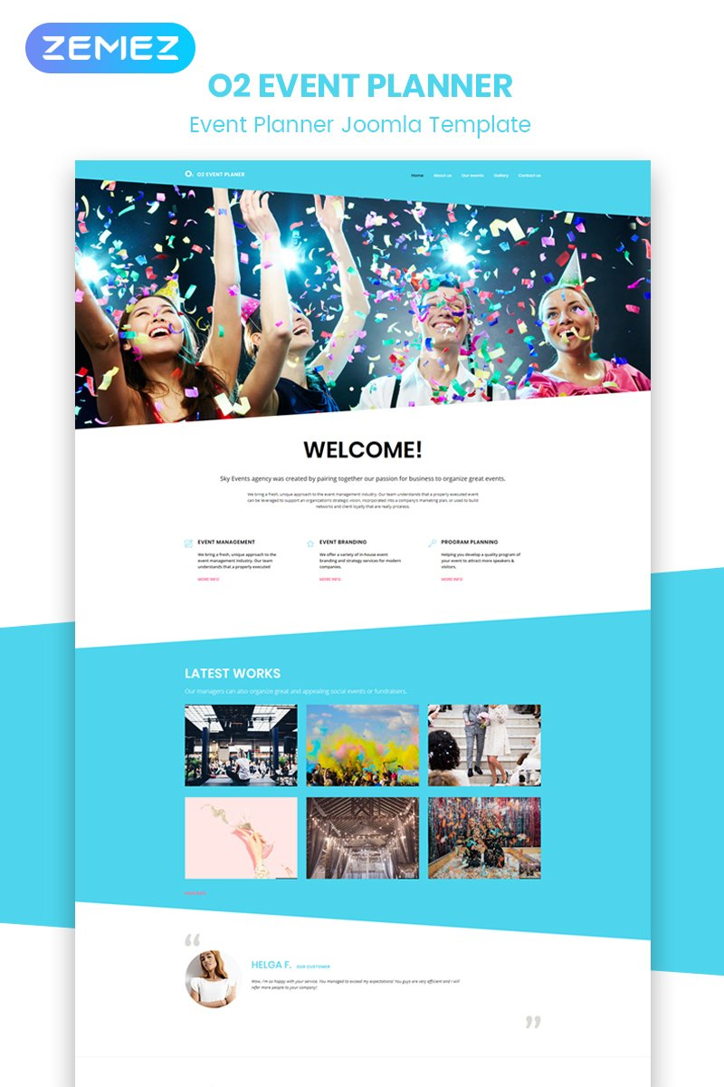 Best event planner joomla template 51847 best event planner joomla template maxwellsz