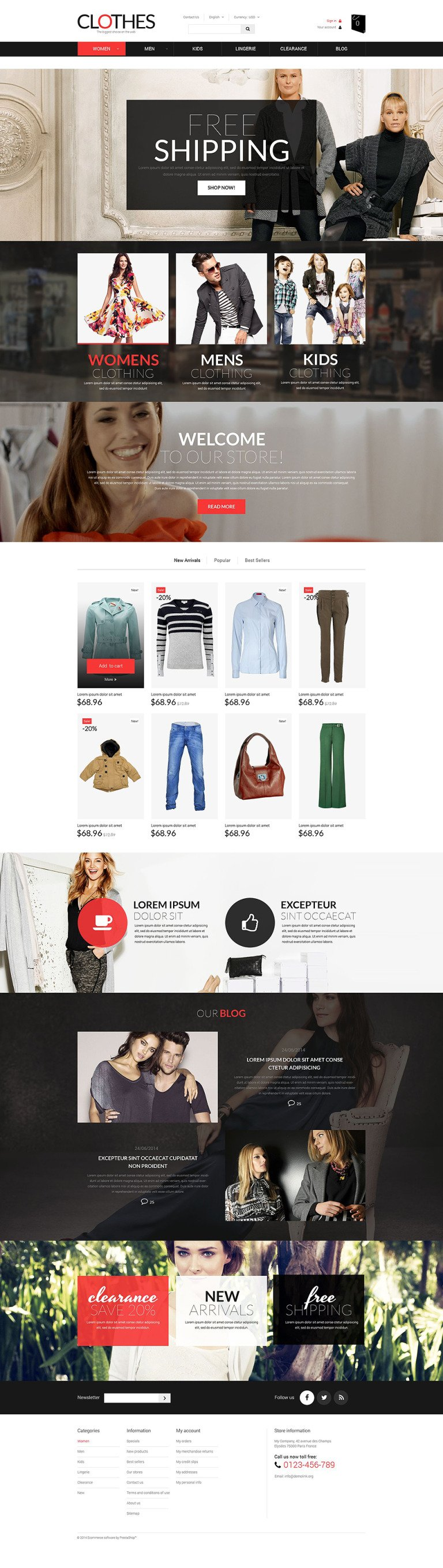 Brand Clothes PrestaShop Theme New Screenshots BIG