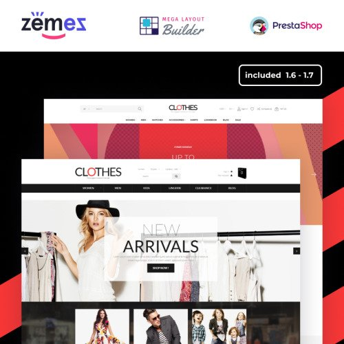 Clothes - PrestaShop Template based on Bootstrap