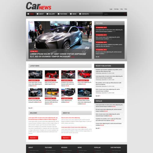 Car News - Joomla! Template based on Bootstrap