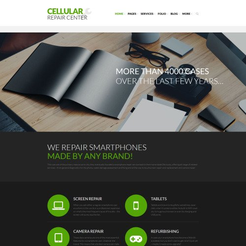 Cellular Repair Center - Responsive WordPress Template