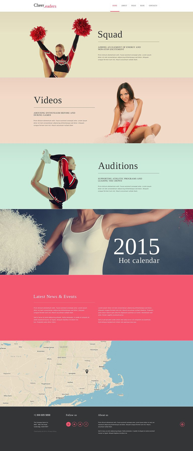 Cheerleading Squad Joomla Template New Screenshots BIG