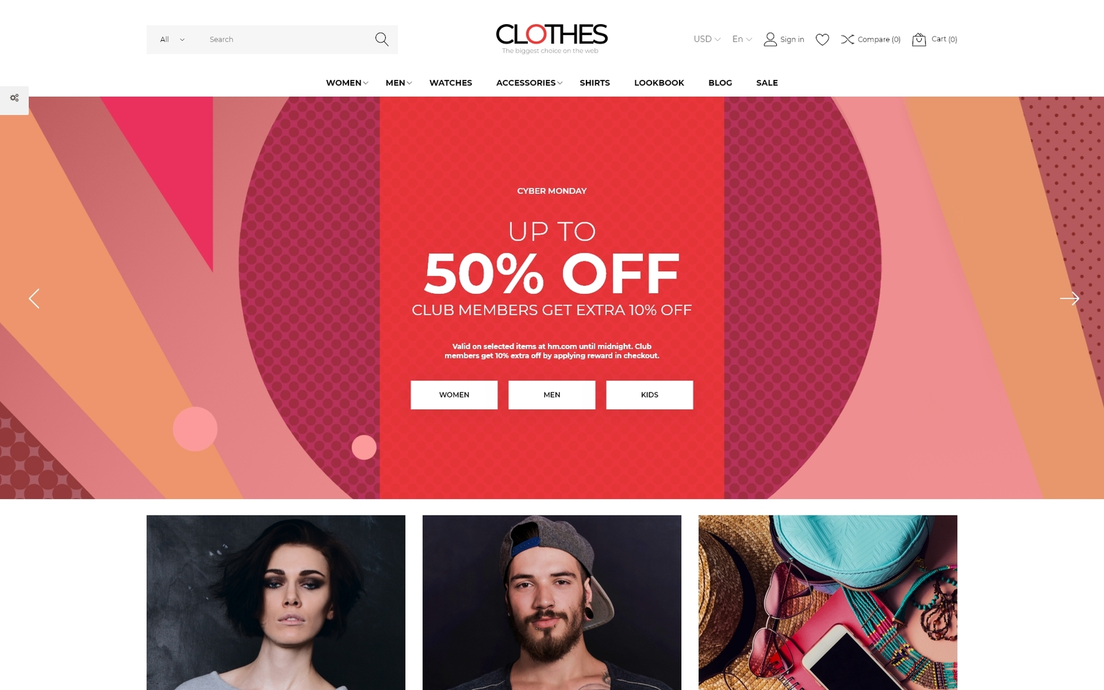 Clothes - Apparel Brand Online Template PrestaShop Theme