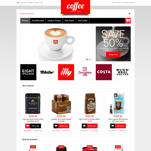 Coffee  - Responsive Magento Template