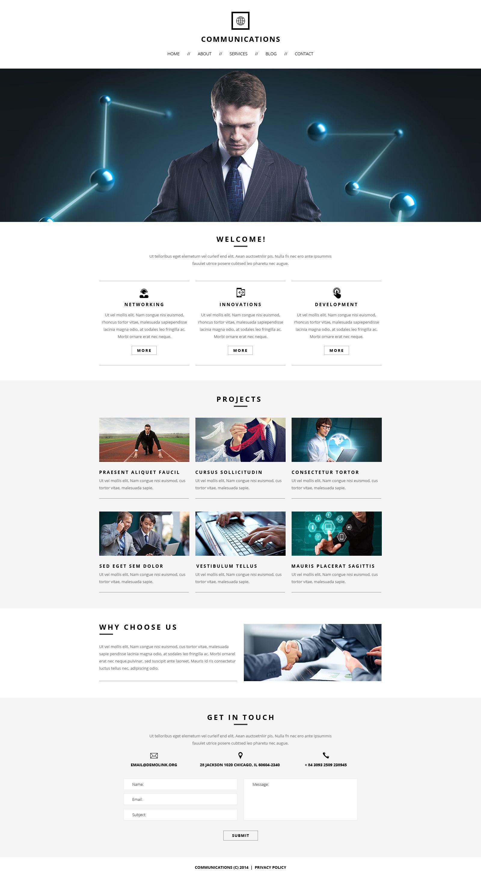 Communications Responsive Website Template №51874
