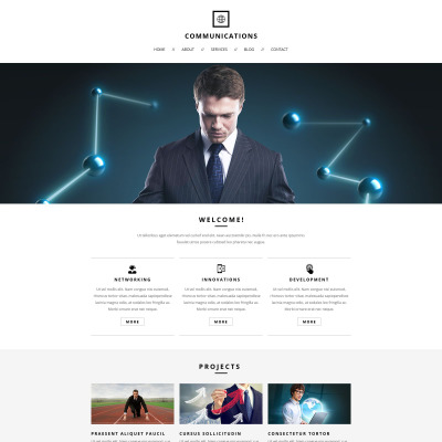 31+ Best Communications Website Templates