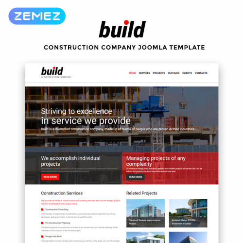 Build - Joomla! Template based on Bootstrap