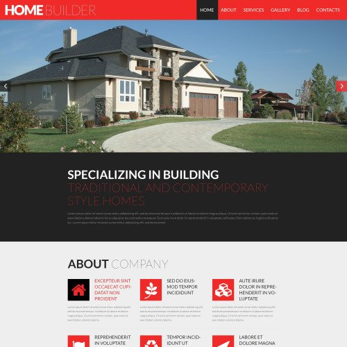 Home Builder - Construction Company WordPress Template based on Bootstrap
