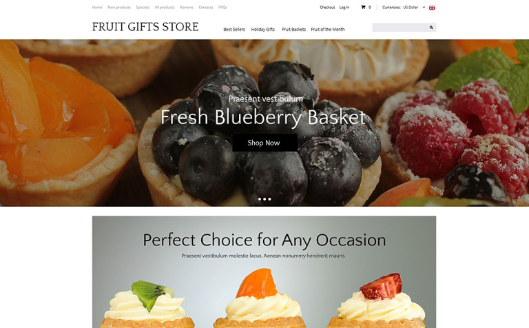 Delicious Gifts ZenCart Template
