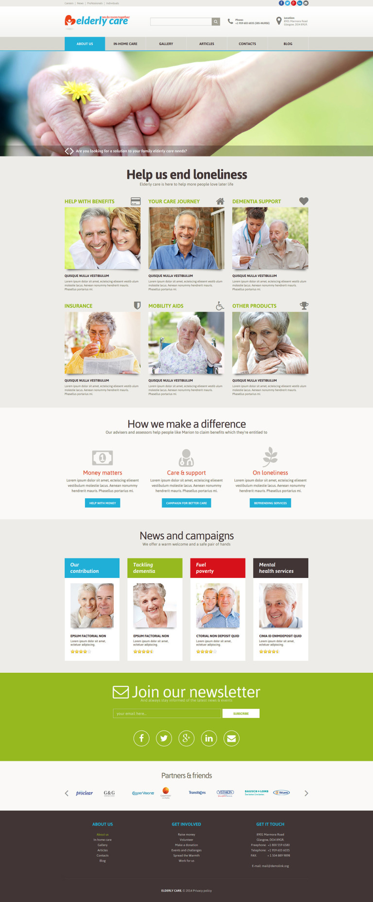 Elderly Care Joomla Template New Screenshots BIG