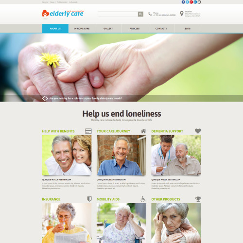 Elderly Care - Joomla! Template based on Bootstrap