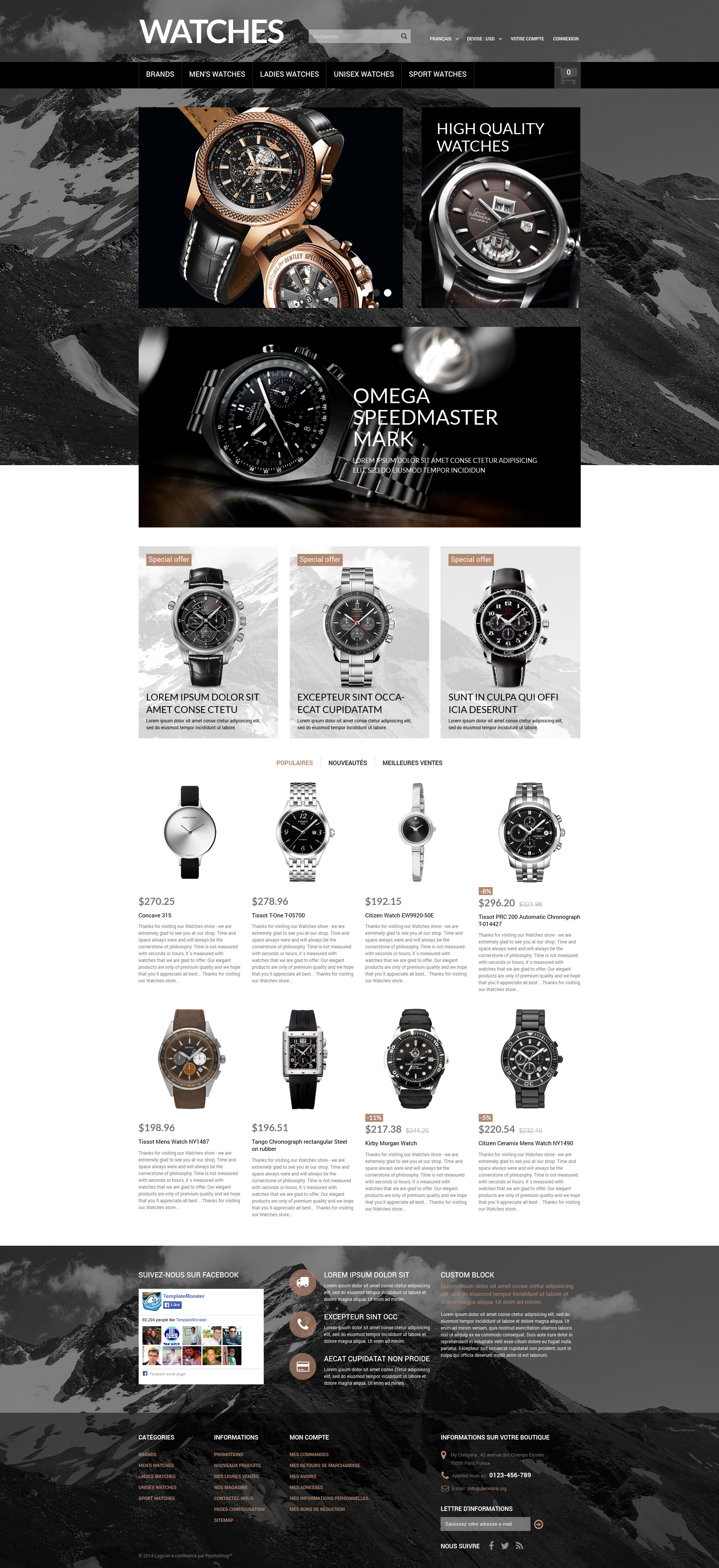Elegant Timepieces PrestaShop Theme - screenshot