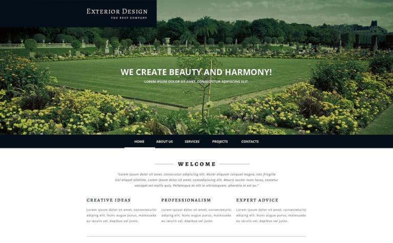 Exterior Design Responsive Website Template