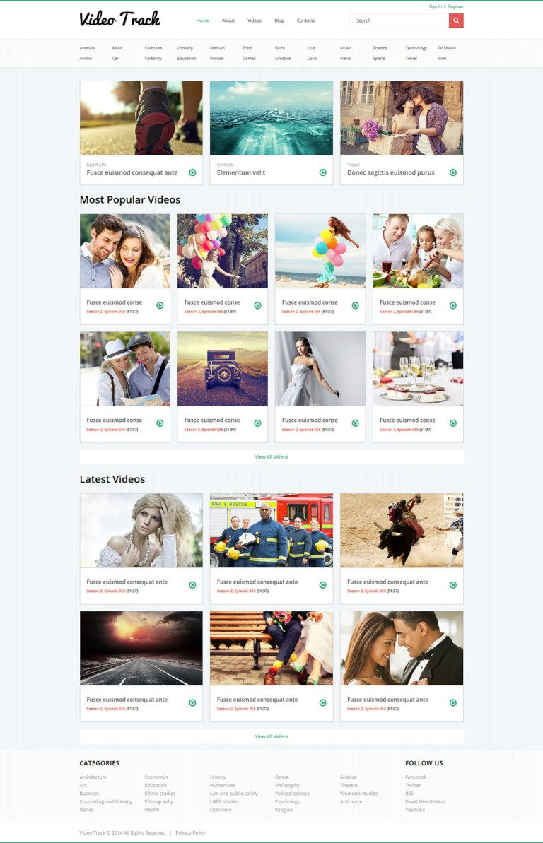 Filmshow Joomla Template New Screenshots BIG