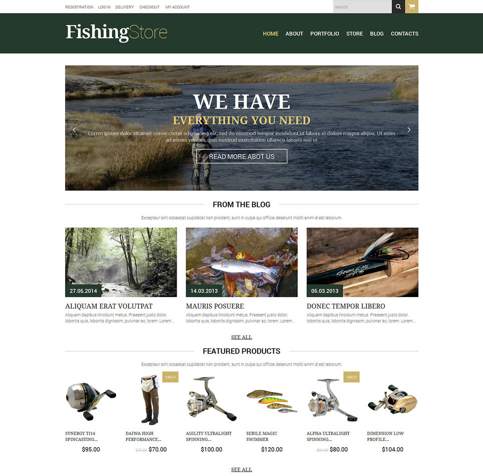 Fishing tackle woocommerce themes unlimited stock for Fishing tackle unlimited