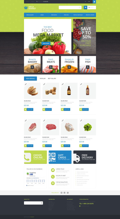 Food Shop PrestaShop Theme