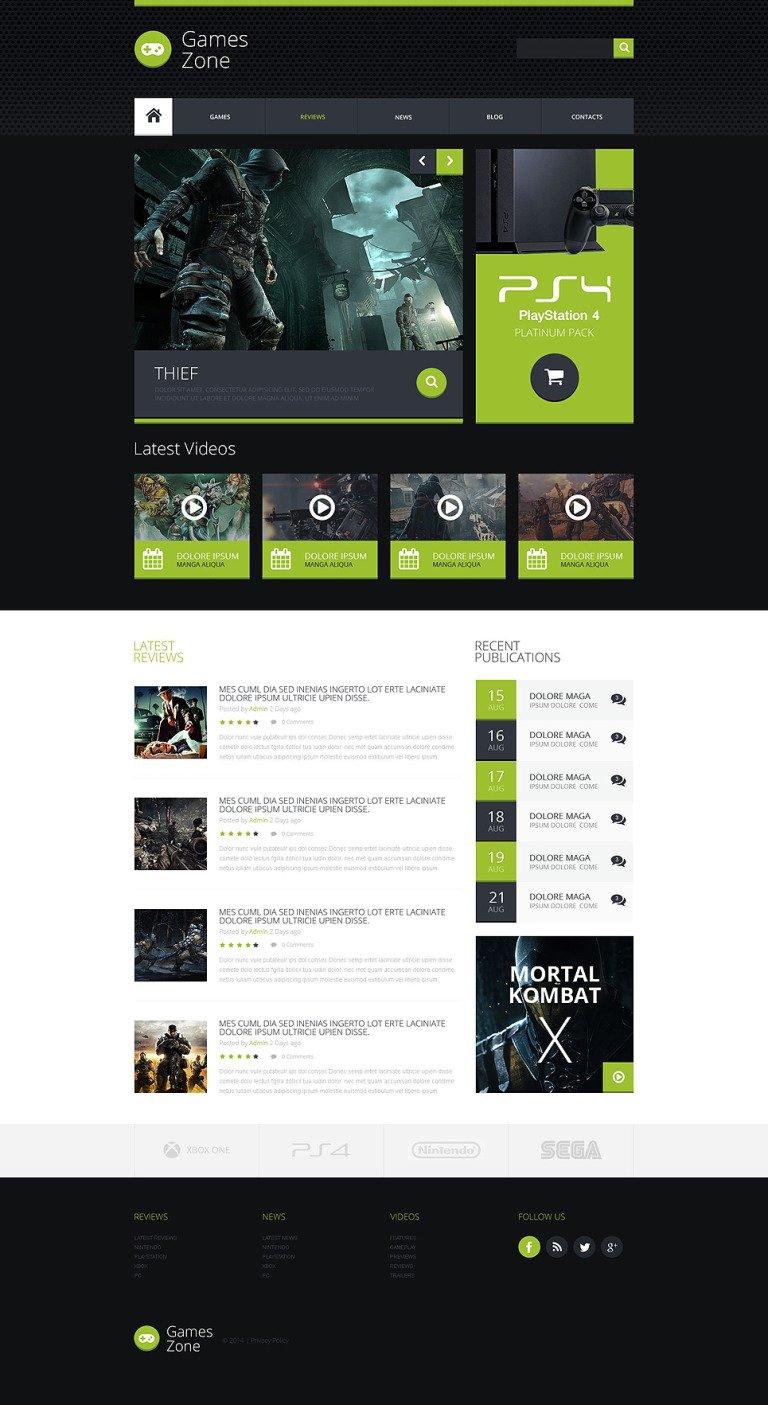 Game Portal Responsive Website Template New Screenshots BIG
