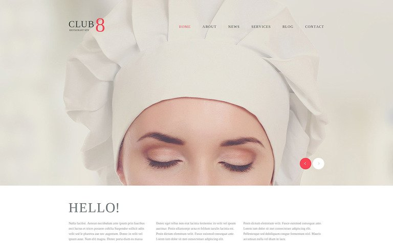 Gourmet Club WordPress Theme