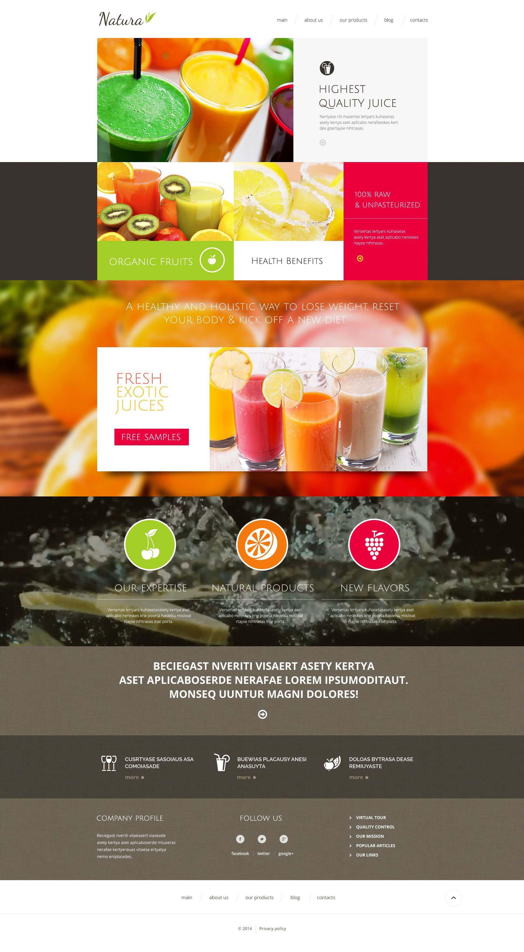 """Healthy  Tasty Drink"" - адаптивний Drupal шаблон №51861"